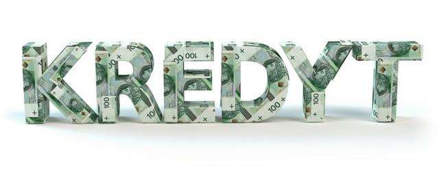 Kredyt - napis z banknotw
